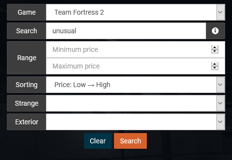 opskins tf2 search